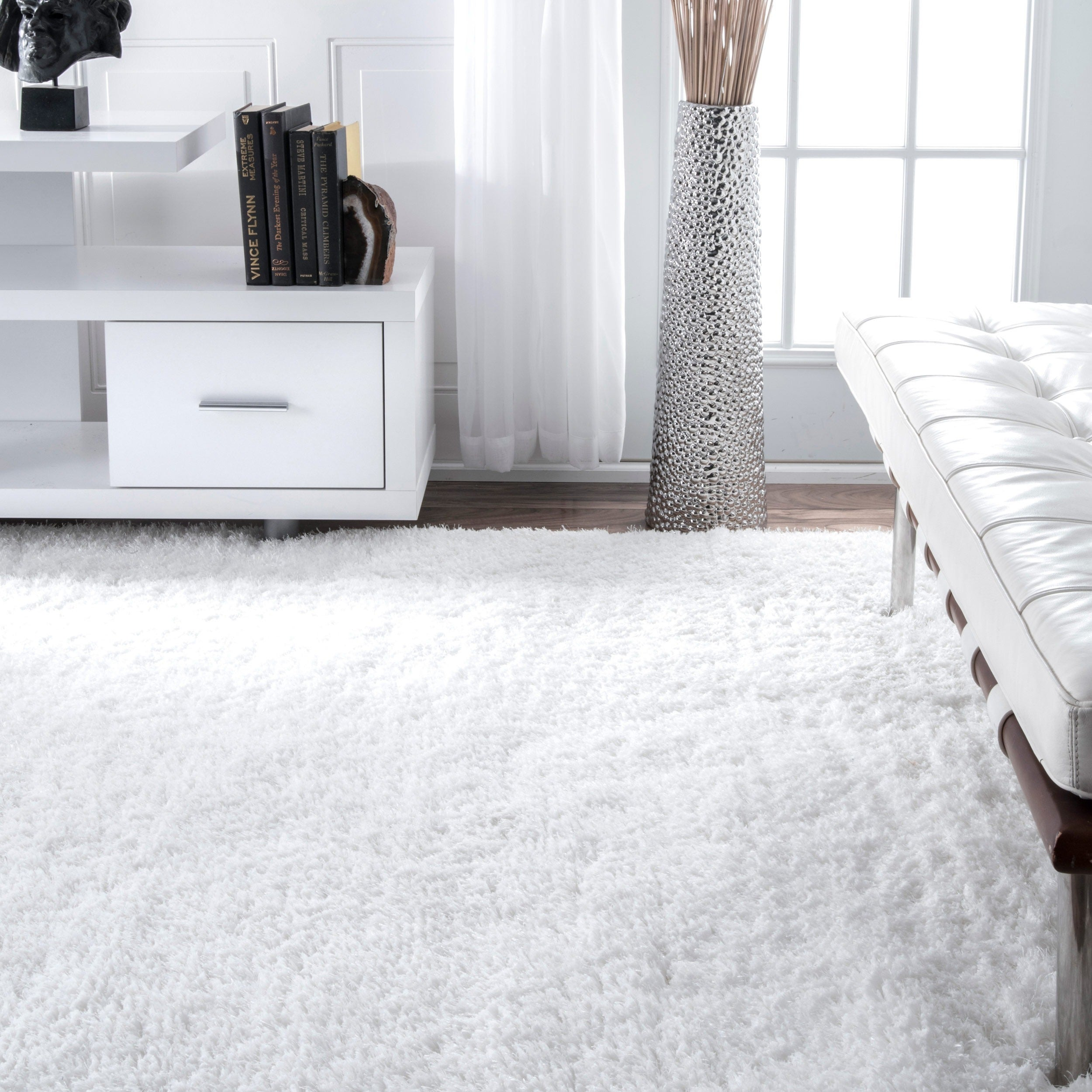 nuLOOM Handmade Solid Soft Plush Shag Rug (4' x 6') at Sears.com