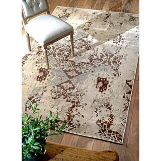 nuLOOM Velvet Vintage Faux Silk Fancy Chocolate Rug (7'8 x 9'6)