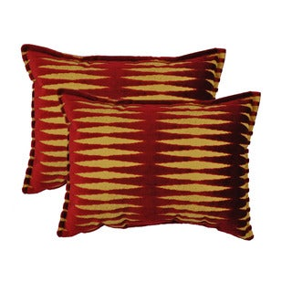 Sherry Kline Golden Gate Burgundy Red Luxury Boudoir Throw Pillow (Set of 2)