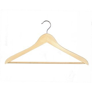 Richards Homewares Natural Wood Suit Hangers (Set of 16)