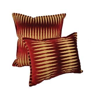 Sherry Kline Golden Gate Burgundy Red Luxury Combo Pillow (Set of 2)