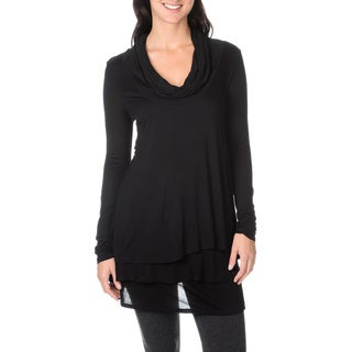 Chelsea & Theodore Women's Cowl Neck Long Sleeve Top