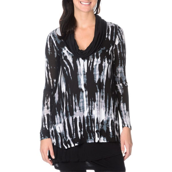 Chelsea & Theodore Women's Streak Print Long Sleeve Top