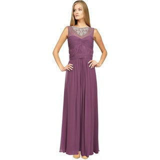 Aidan Mattox Women's Fresh Lilac Crystal Jeweled Evening Gown (Size 12)