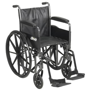 Drive Medical Silver Sport 2 Wheelchair with Swing-away Footrests