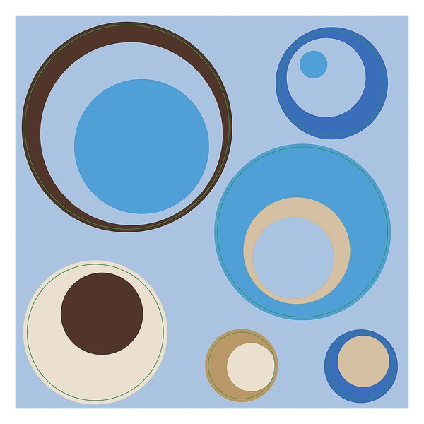 Blue Spheres Peel and Stick Wall Decals