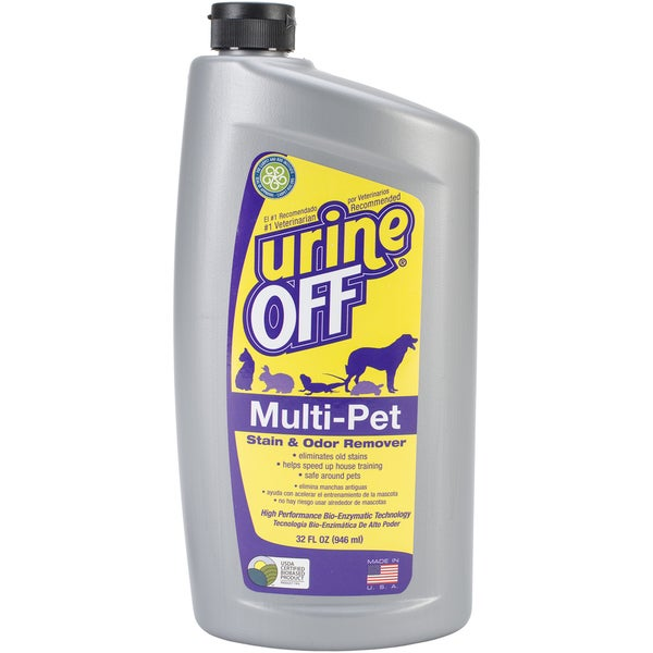 Urine Off Multi-Pet 32oz Oval Bottle W/Carpet Injector Cap