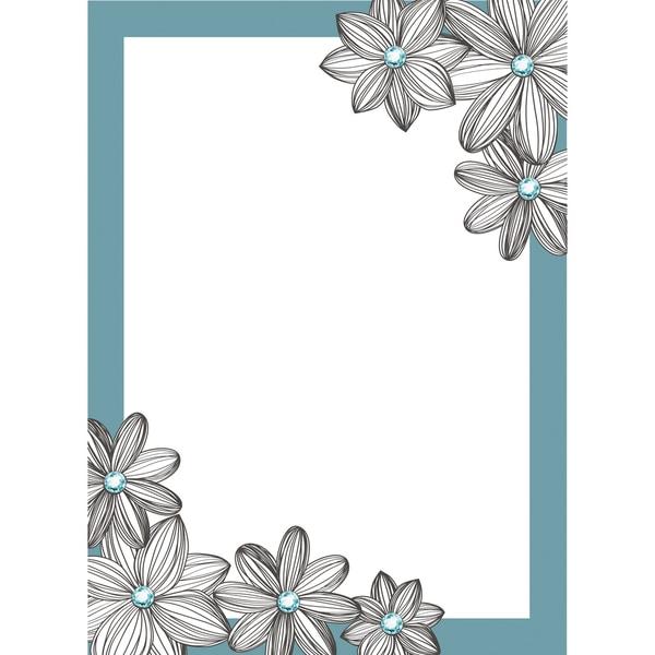 Jeweled DE Blue Daisy Dry Erase