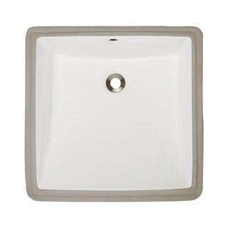 MR Direct U2230-B Bisque Undermount Porcelain Bathroom Sink