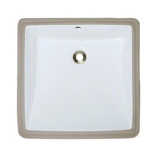 MR Direct U2230-W White Undermount Porcelain Bathroom Sink