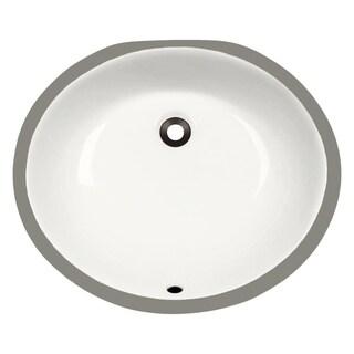 MR Direct UPM-B Bisque Porcelain Bathroom Sink