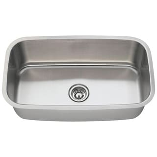 MR Direct 3118-16 Single Bowl Stainless Steel Kitchen Sink