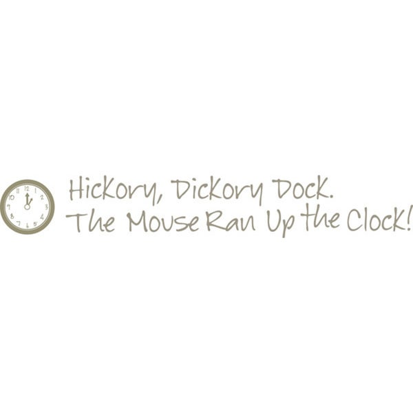Hickory Dickory Dock Nursery Rhymes Decals