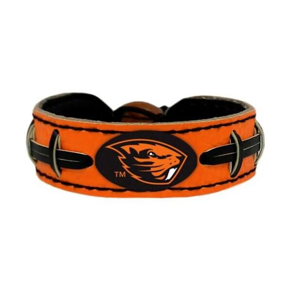 GameWear NCAA Football Team Logo Leather Bracelet (O-W)