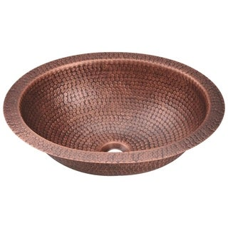 MR Direct 909 Single Bowl Oval Copper Sink