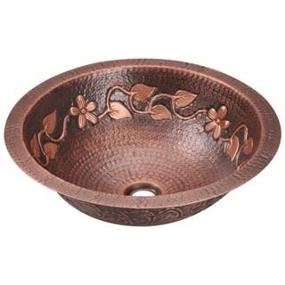 MR Direct 923 Single Bowl Copper Bathroom Sink