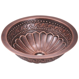 MR Direct 924 Single Bowl Copper Bathroom Sink