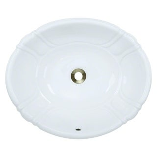 MR Direct O1815-W White Porcelain Vessel/ Drop-in Bathroom Vanity Sink