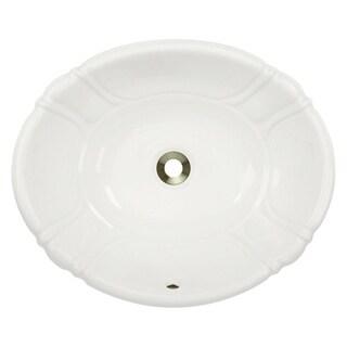 MR Direct O1815-B Bisque Porcelain Vessel / Drop-in Bathroom Vanity Sink