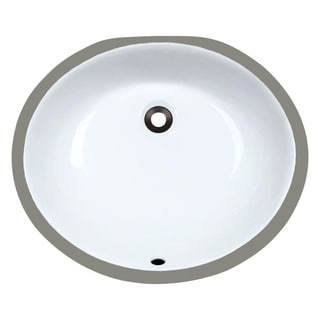 MR Direct UPM-W White Porcelain Bathroom Sink