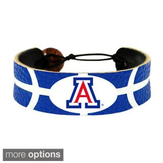 GameWear NCAA Basketball Team Logo Leather Bracelet (A-W)