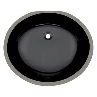 MR Direct UPM-Bl Black Porcelain Bathroom Sink