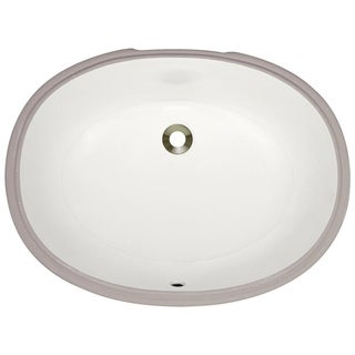MR Direct UPL-B Bisque Undermount Porcelain Bathroom Sink
