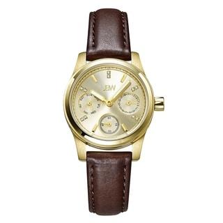 JBW Women's Berkeley Diamond Brown Leather Watch
