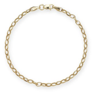 14k Yellow Gold Rolo Chain Bracelet