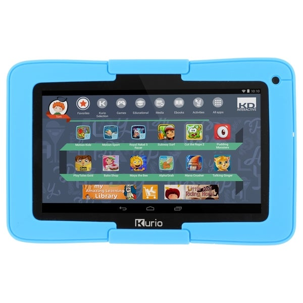 Kurio xtreme 7 quot android tablet with blue bumper 16727294 overstock