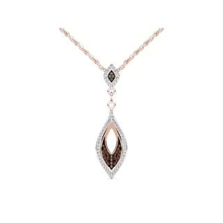 De Couer 10k Rose Gold 1/5ct TDW Cognac Diamond Necklace (H-I, I2)