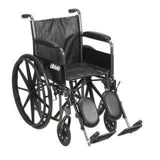 Drive Medical Silver Sport 2 Wheelchair with Elevating Leg Rests