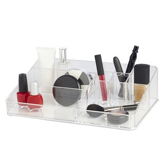 Richards Homewares 9-compartment Clear Acrylic Cosmetic Organizer