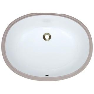 MR Direct White Undermount Porcelain Bathroom Sink