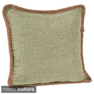 Jute Braid 18-inch Throw Pillow