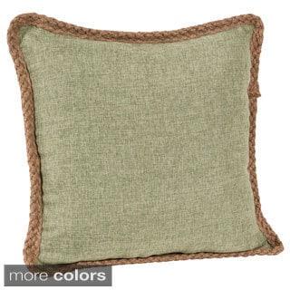 Jute Braid 18-inch Throw Pillow