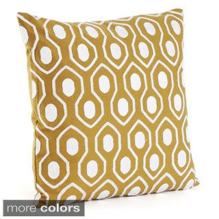 Moroccan Design 17-inch Down Filled Throw Pillow