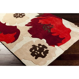 Hand-Tufted Kathleen Polyester Floral Area Rug (8' x 10')