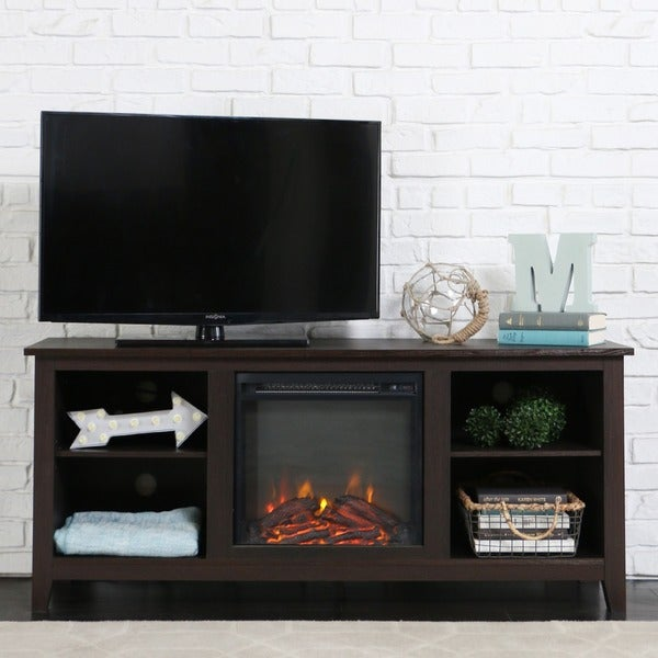 66 inch deluxe xperience audio console with electric fireplace