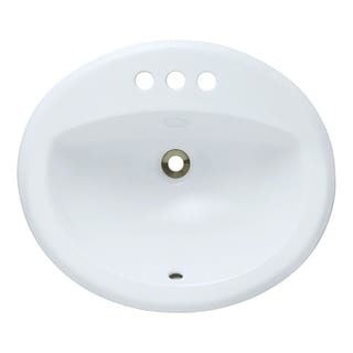 MR Direct White Overmount Bathroom Sink