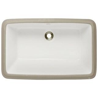 MR Direct Bisque Undermount Porcelain Bathroom Sink