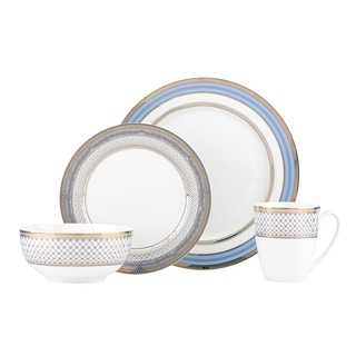 Lenox Chancellor Blue 4-piece Dinnerware Set