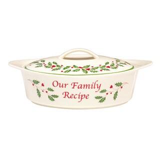 Lenox Holiday Family Recipe Serving Dish