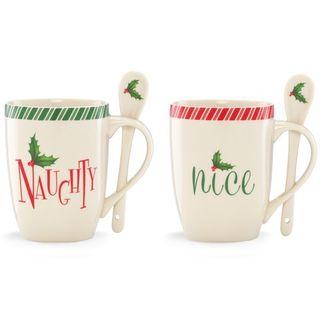Lenox Holiday Naughty and Nice 2-piece Mug Set
