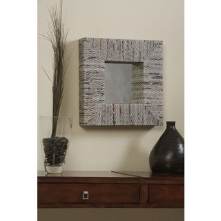 Linon Newspaper Square Mirror