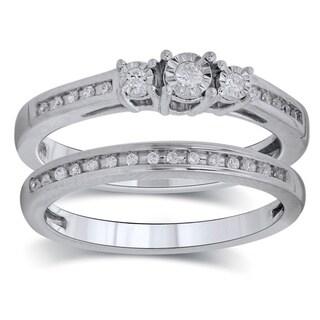 Bridal Symphony 10k White Gold 1/6ct TDW White Gold Engagement Ring (I-J, I1-I2)