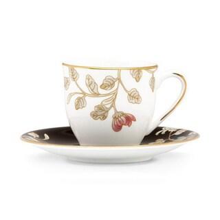 Lenox Painted Camellia Dinnerware Demi Cup/ Saucer