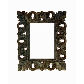 Hand-carved 5x7-inch Light Brown Wooden Picture Frame (India)