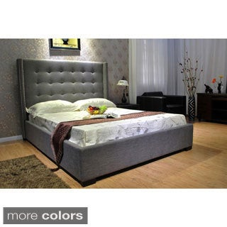 California King Fabric Platform Bed
