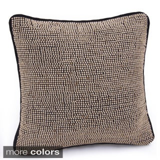 Jovi Home Diva Hand-beaded 12-inch Decorative Throw Pillow